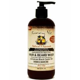 Sunny Isle Jamaican Black Castor Oil Formulated Just For Men 2-n-1 Hair & Beard Wash