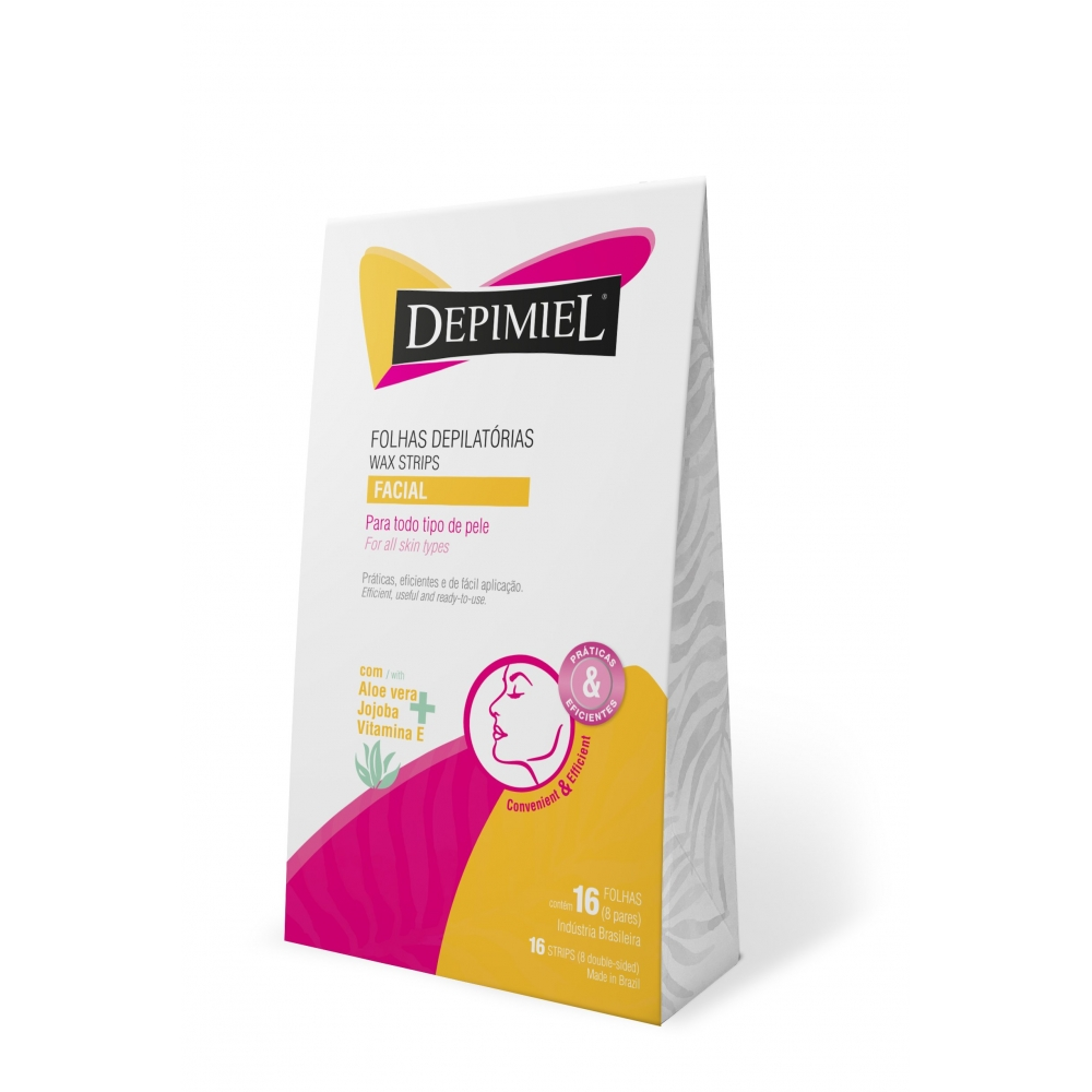 Depimiel Ready To Use Hair Removal Wax Strips For Face All Skin