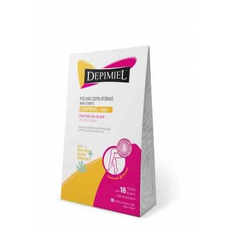 Depimiel Ready-To-Use Hair Removal Wax Strips for Body - All Skin Types