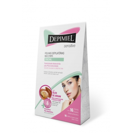 Depimiel Ready To Use Hair Removal Wax Strips For Face Sensitive