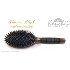 Kenchii Professional Maple Boar and Nylon Bristle Brush Large
