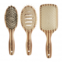 Olivia Garden Healthy Hair Eco Friendly Bamboo Ionic Paddle Brush Collection