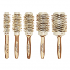 Olivia Garden Healthy Hair Eco Friendly Natural Bamboo Ceramic Ionic Thermal Brush Collection (HHT)
