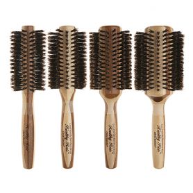 Olivia Garden Healthy Hair Eco Friendly 100% Boar Bristle Bamboo Styling Brush Collection