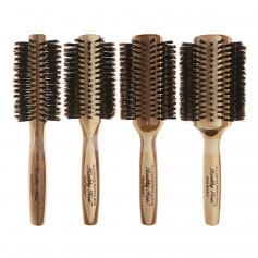 Olivia Garden Healthy Hair Eco Friendly 100% Boar Bristle Bamboo Styling Brush Collection (HH-B)
