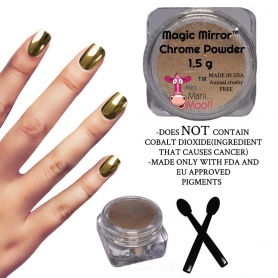 Mini Mani Moo Magic Mirror Chrome Gold Powder 1.5g