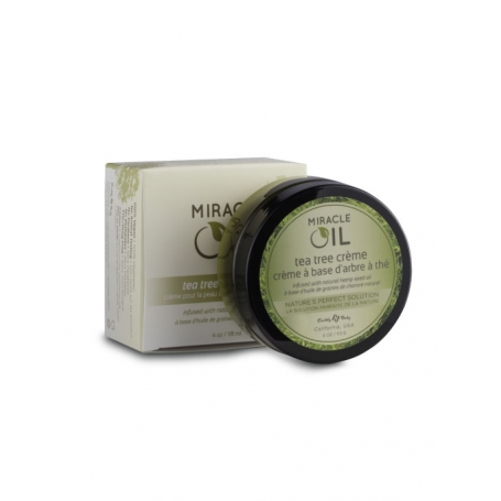 Hemp Seed Natural Body Care Miracle Oil Tea Tree Creme (118ml/4oz)