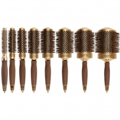 Olivia Garden NanoThermic Ceramic + Ion Barrel Brush Collection (NT)