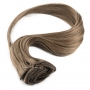 Suprema 100% Real Human Remy Hair Clip On Extensions 7pc Set - Chestnut Brown 8