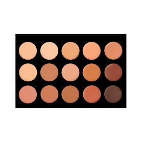 Crown 15 Color Creme Foundation/Contour Palette