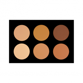 Crown 6 Color Pressed Powder Foundation