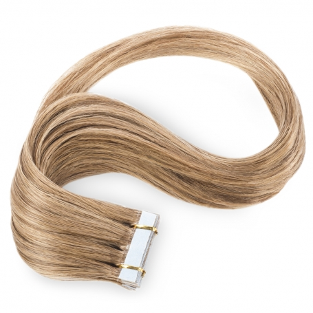 Suprema 100% Real Human Remy Hair Tape On Extensions 20pc Set - Light Chestnut Brown [12]