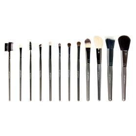 Crown 12pc Professional Gunmetal Brush Set (802)