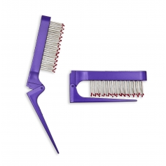 Teeze w/ Eez Fold Anti-Static Teasing Comb - Purple