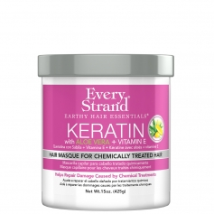 Every Strand Keratin + Aloe Vera & Vitamin E Masque for Chemically Treated Hair (425g/15oz)