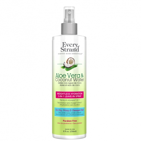 Every Strand Aloe Vera + Coconut Water Weightless Hydration 5-in-1 Leave-In Spray (236ml/8oz)