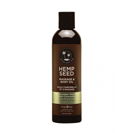 Hemp Seed Body Massage & Body Oil (60ml/8oz)