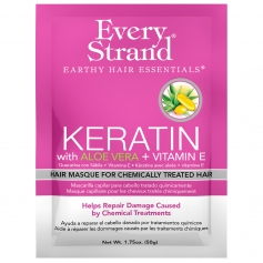 Every Strand Keratin + Aloe Vera & Vitamin E Hair Masque for Chemically Treated Hair Single-use Packet (1.75oz/50g)