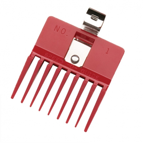 "Speed O Guide The Original Red Clipper Comb size 1 - 7/16"" (0716"
