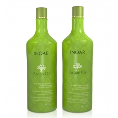 Inoar Argan Oil Back Bar Daily Shampoo & Conditioner Set 2x1L/33.8oz