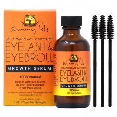 Sunny Isle Jamaican Black Castor Oil Eyebrow & Eyelash Growth Serum (2oz - 3 month supply)