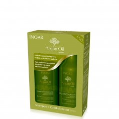 Inoar Argan Oil Duo Daily Shampoo & Conditioner Set 2x250ml/8.4oz
