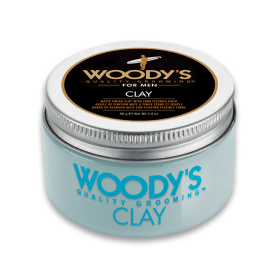 Woody's Matte Finish Clay Pomade for Men with Firm Flexible Hold (3.4oz/96g)