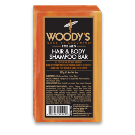 Woody's Hair & Body Shampoo Bar for Men