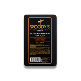 Woody's Activated Charcoal Bar Soap for Men
