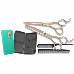 Kenchii Professional Rosé Shear & Thinner Set