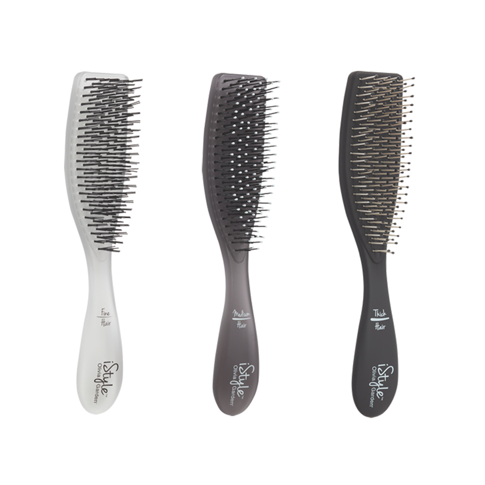 olivia garden istyle compact styling brush for fine medium or thick hair - Olivia Garden