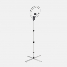 Daylight Premium Aura Ring LED Floor Lamp with Phone Mount