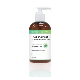 Antiseptic 70% Alcohol Hand Sanitizer Gel with Aloe Vera (8oz/237ml) - LIMIT 5 PER ORDER
