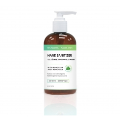Antiseptic 70% Alcohol Hand Sanitizer Gel with Aloe Vera (8oz/237ml)