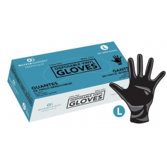 Olivia Garden Essentials Black Vinyl Disposable Gloves (100 count)
