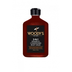 Woody's 3-N-1 Shampoo, Conditioner & Body Wash for Men