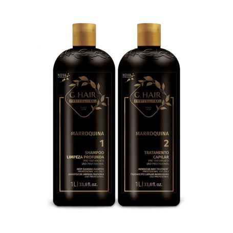 Inoar/G.Hair Moroccan Keratin Smoothing Treatment  2 x 1L / 33.8oz