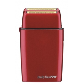 BaByliss PRO FXFS2R Cordless Metal Double Foil Shaver - Red