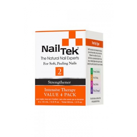 Nail Tek Intensive Therapy 2 Pro Pack - Value 4 Pack (15ml/0.5oz)
