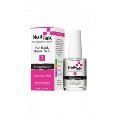 Nail Tek Protection Plus 3 Nail Strengthener For Hard, Brittle Nails  (15ml/0.5oz)