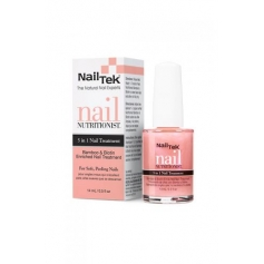 Nail Tek Nutritionist Bamboo & Biotin 5-in-1 Nail Treatment for Soft, Peeling Nails (15ml/0.5oz)