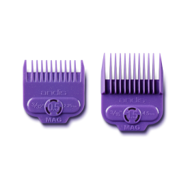 Andis Single Magnetic Dual Pack Comb Set - Size 0.5 & 1.5 (66560)